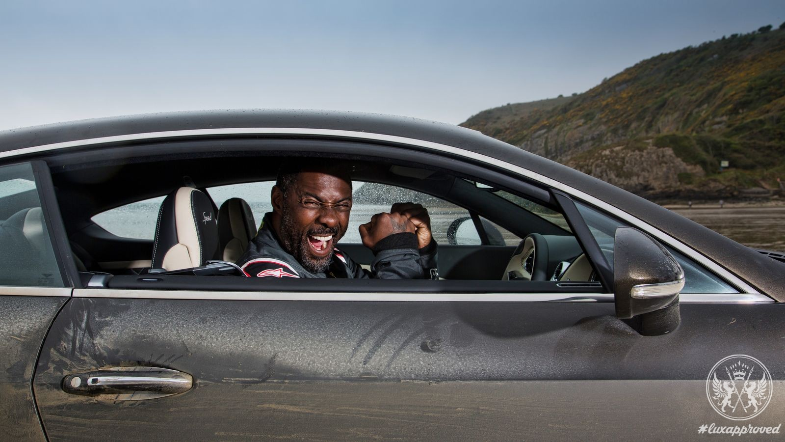 "Bentley breaks ""flying mile"" record with Idris Elba"