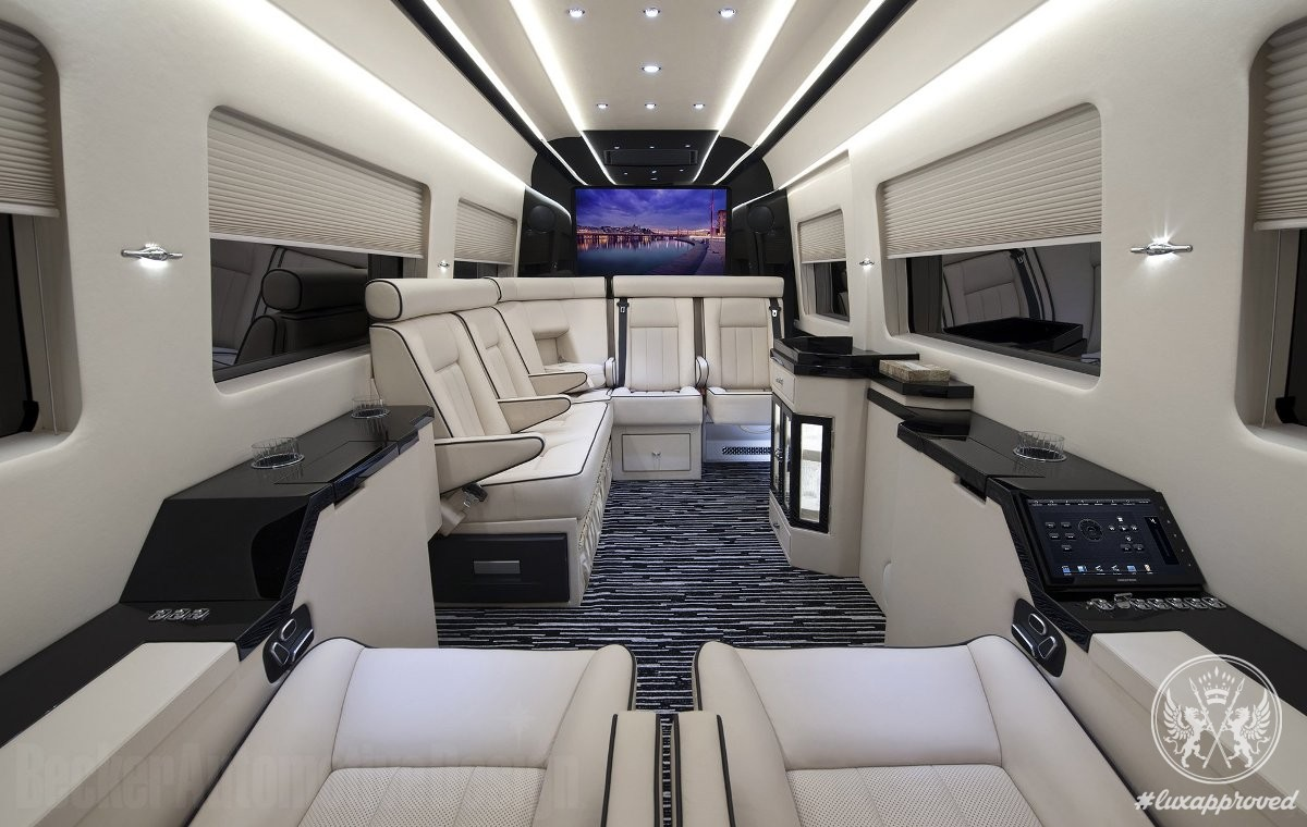 becker automotive design refits mercedes benz sprinter van with interiors customized to private. Black Bedroom Furniture Sets. Home Design Ideas