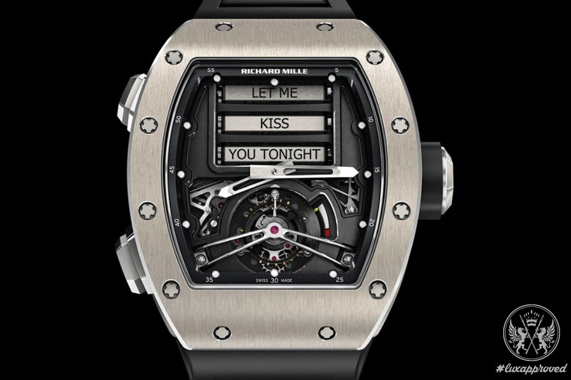 Richard Mille 69 Erotic Tourbillon Will Tease the Owner with Sexually Suggestive Messages