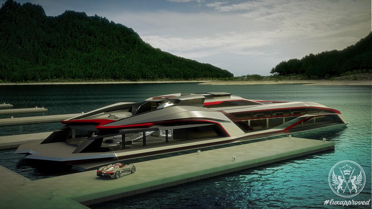 64m Mega Yacht Kraken Concept by Gray Design
