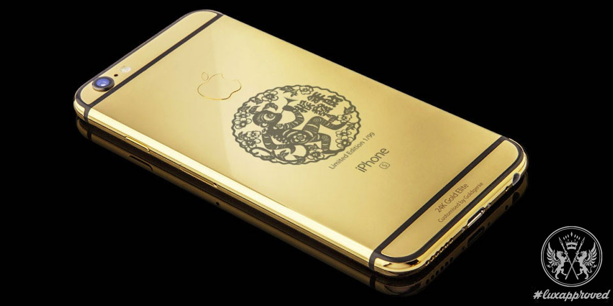 24K Gold Goldgenie Year of the Monkey iPhone 6s Elite