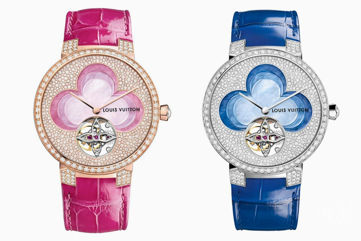 Mother-of-Pearl Quatrefoil Adorns the Louis Vuitton Blossom Watches
