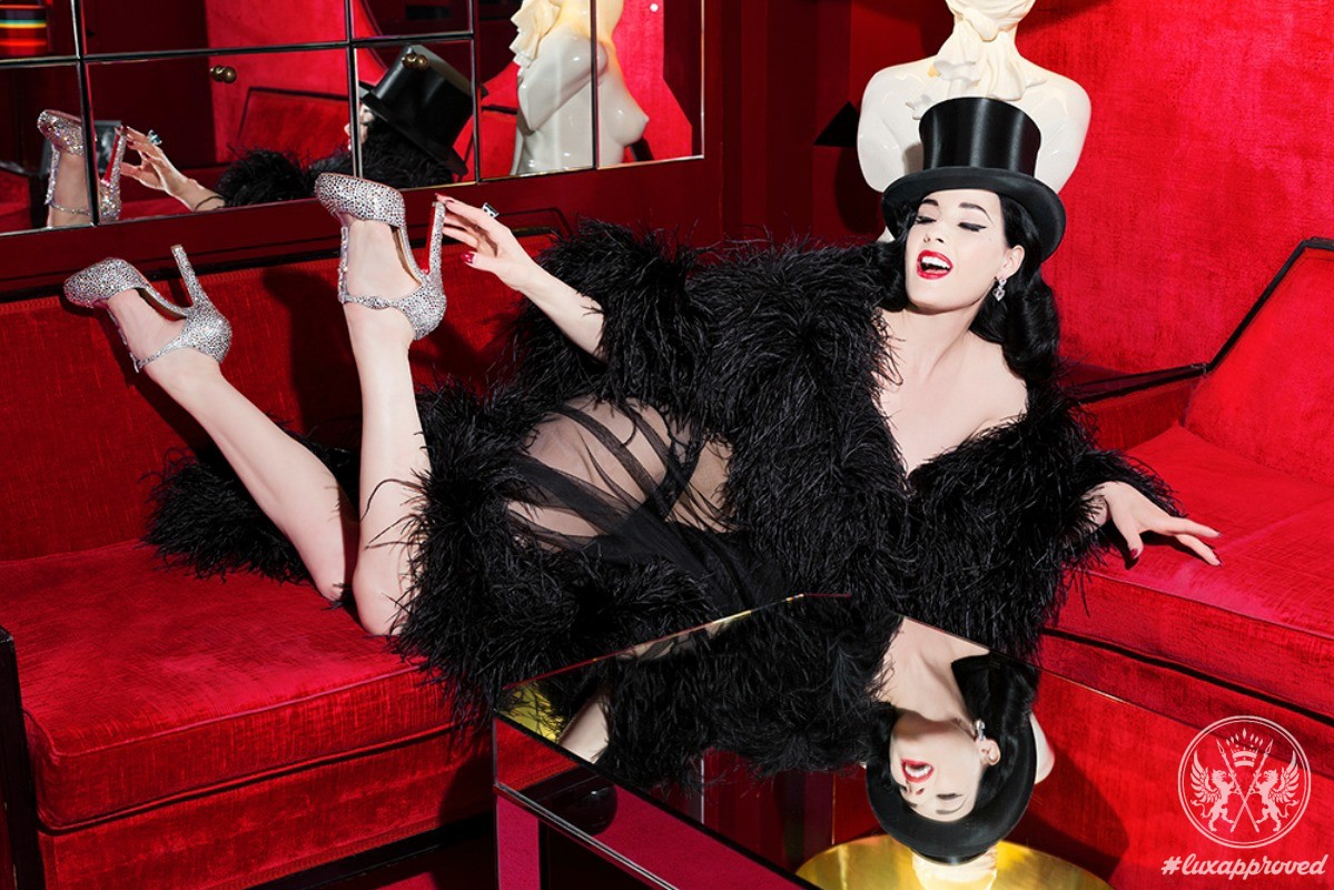 Dita Von Teese Mesmerizes In Custom Made Footwear By Christian Louboutin