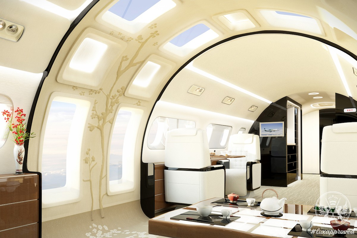 Embraer Introduces Kyoto Airship, A Posh Interior Design For Its Lineage 1000 Business Jet