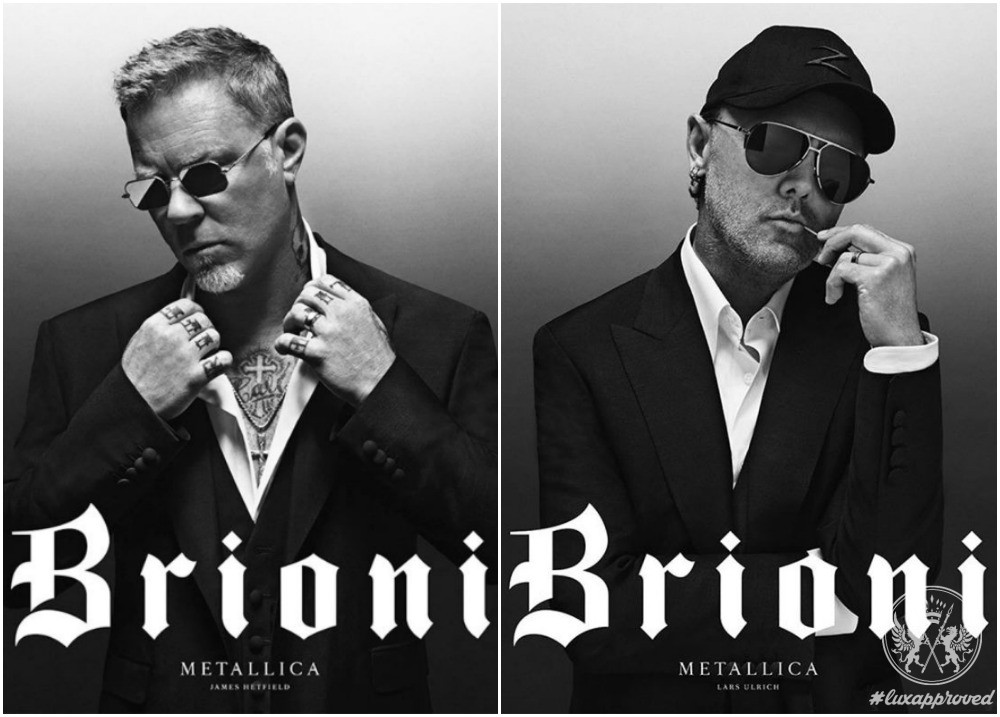 Metallica Is The Face Of Italian Luxury Menswear Powerhouse Brioni