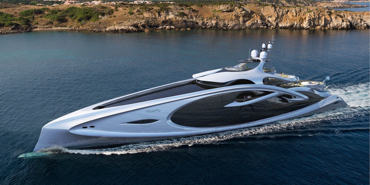 Nouveau Is A 90m Mega Yacht Concept By Andy Waugh