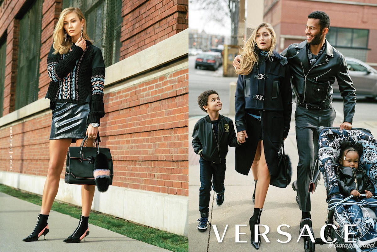 Behold Karlie Kloss And Gigi Hadid In New Versace Fall-Winter 2016 Campaign