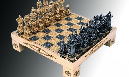 "This Solid 18K Gold And Diamond ""Royal Chess Set"" Is A Real Trophy"