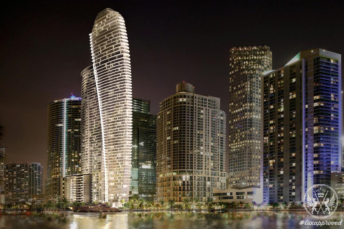 The Aston Martin Residences at 300 Biscayne Boulevard Way, Miami