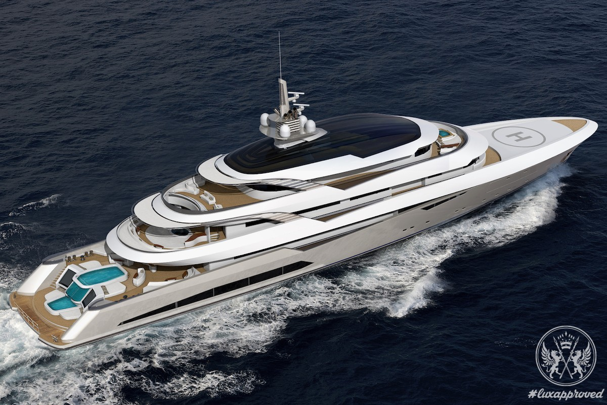 Beiderbeck Designs Has Unveiled the 90m Purely Private Yacht Concept