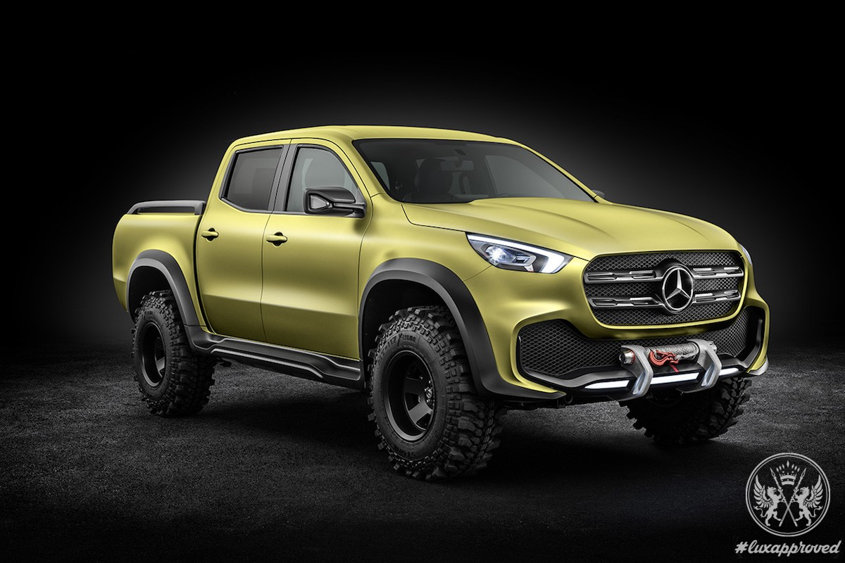 Mercedes benz unveils concept x class stylish explorer for Mercedes benz pickup truck
