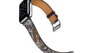 The Hermès Apple Watch Gets Sophisticated with Robert Dallet's Équateur Tatouage Print