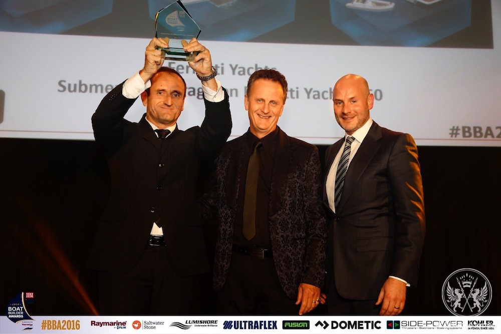 Ferretti Group Celebrates the Victory at the Boat Builder Awards for Business Achievement 2016