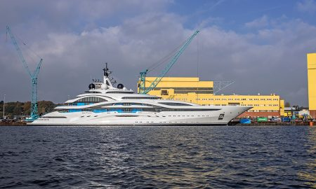 Lürssen Launched the 403-Foot Project Jupiter Superyacht