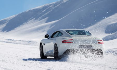 Aston Martin Art of Living Ice Drive in Courmayeur
