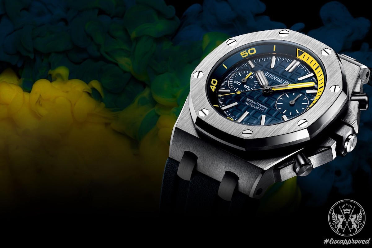 Audemars Piguet Dresses Royal Oak Offshore Diver Chronograph in Funky Colors