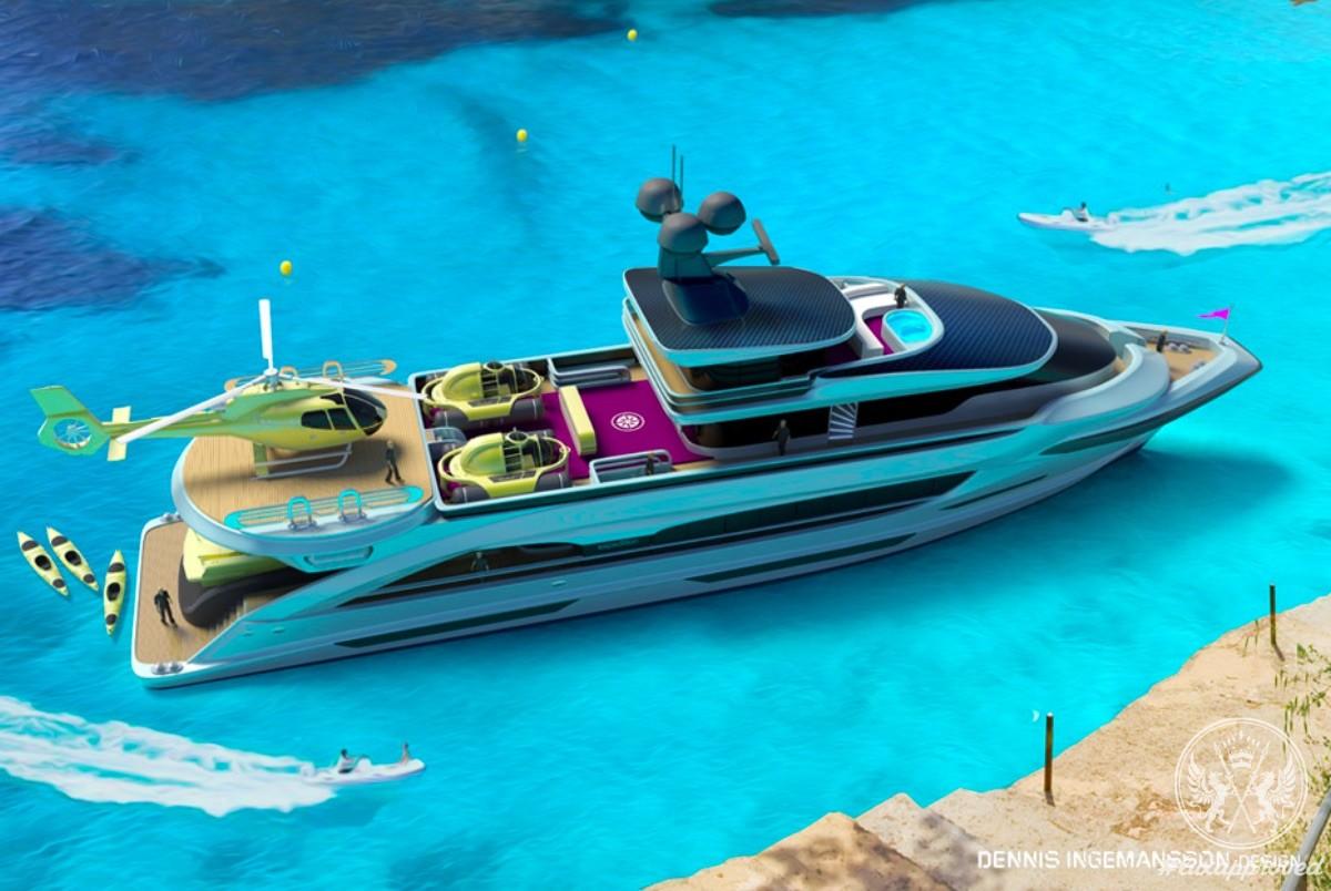 Arctic Sun Explorer Yacht Concept by Dennis Ingemansson