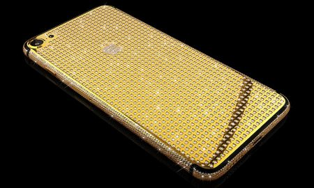 Santa's Holiday Pick: Goldgenie iPhone 7 Supernova Encrusted with Swarovski Crystals