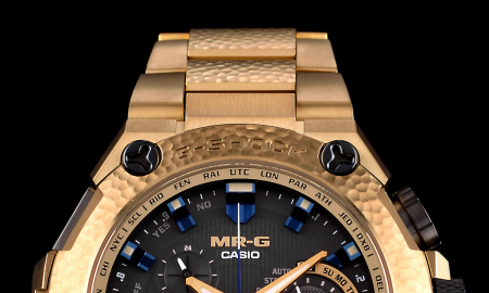 G-SHOCK Reveals the lavish MR-G GPS Hybrid Gold Hammer Tone Timepiece