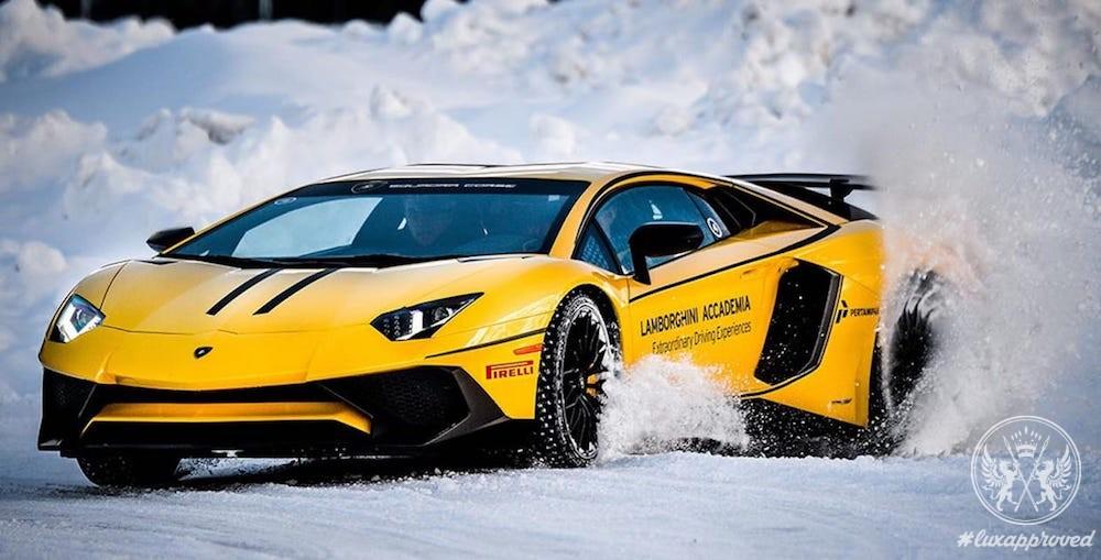 "Lamborghini Winter Accademia Presents ""Twelve Hours of Livigno"" Program"