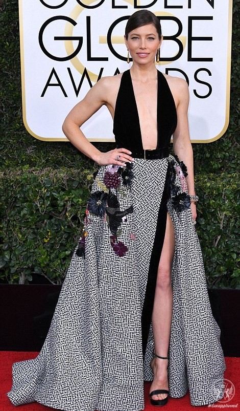 Stars shine in Salvatore Ferragamo at the 74th Golden Globe Awards