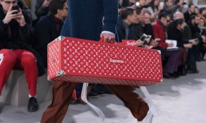 Louis Vuitton x Supreme Collaboration Is Unveiled at Paris Fashion Week