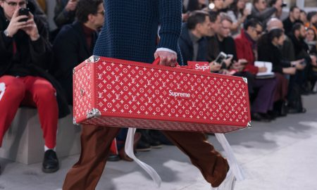 Louis Vuitton x Supreme Collaboration Is Unveiled at Paris Fashion Week