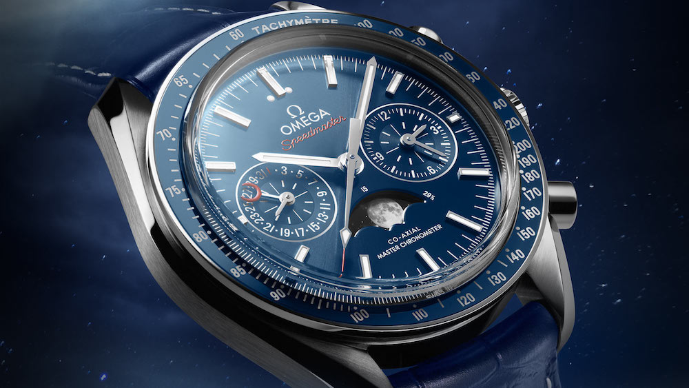 George Clooney for Omega Speedmaster Moonphase Chronograph Collection