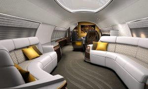 The ABJ Eleganté VIP Interior for a Business Jet by Design Q
