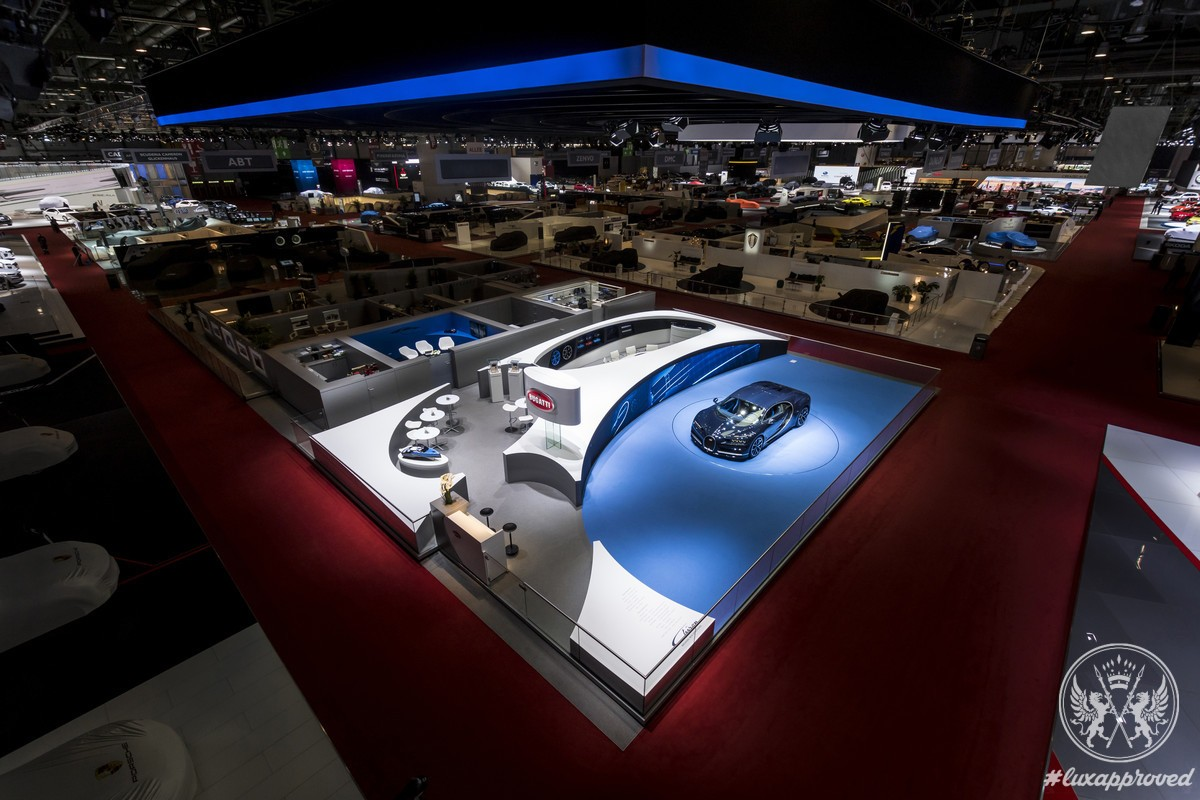 Bugatti Impresses Jury of the Geneva International Motor Show 2017 with Its Stand Design