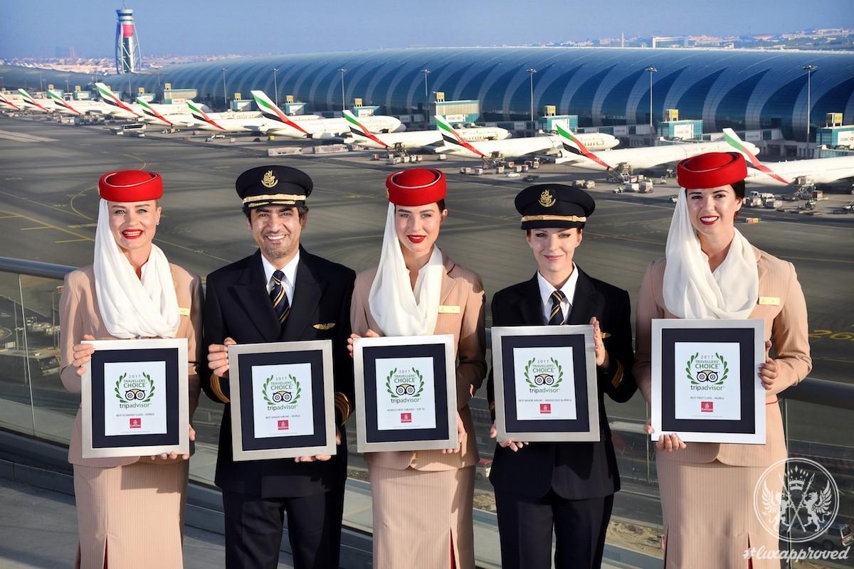 Emirates Dominates TripAdvisor Travelers' Choice Awards for Airlines 2017