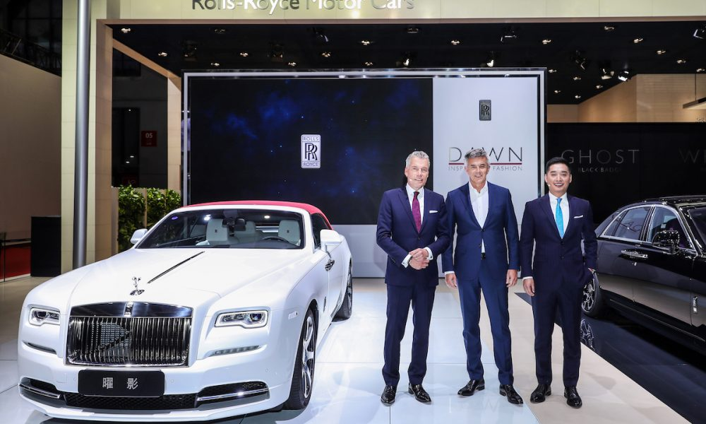 "Rolls-Royce ""Dawn – Inspired by Fashion"" Makes a Statement at Auto Shanghai 2017"