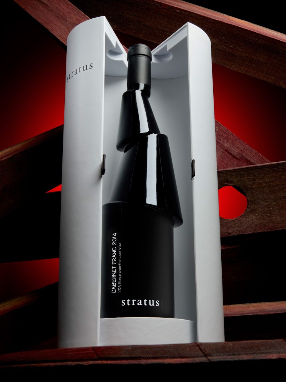 "Sculptural Cabernet Franc ""Decant"" Bottle by Karim Rasheed and Stratus Vineyards"