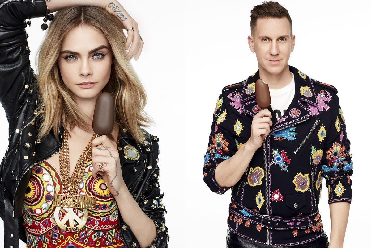MAGNUM x Moschino Campaign Starring Jeremy Scott and Cara Delevingne