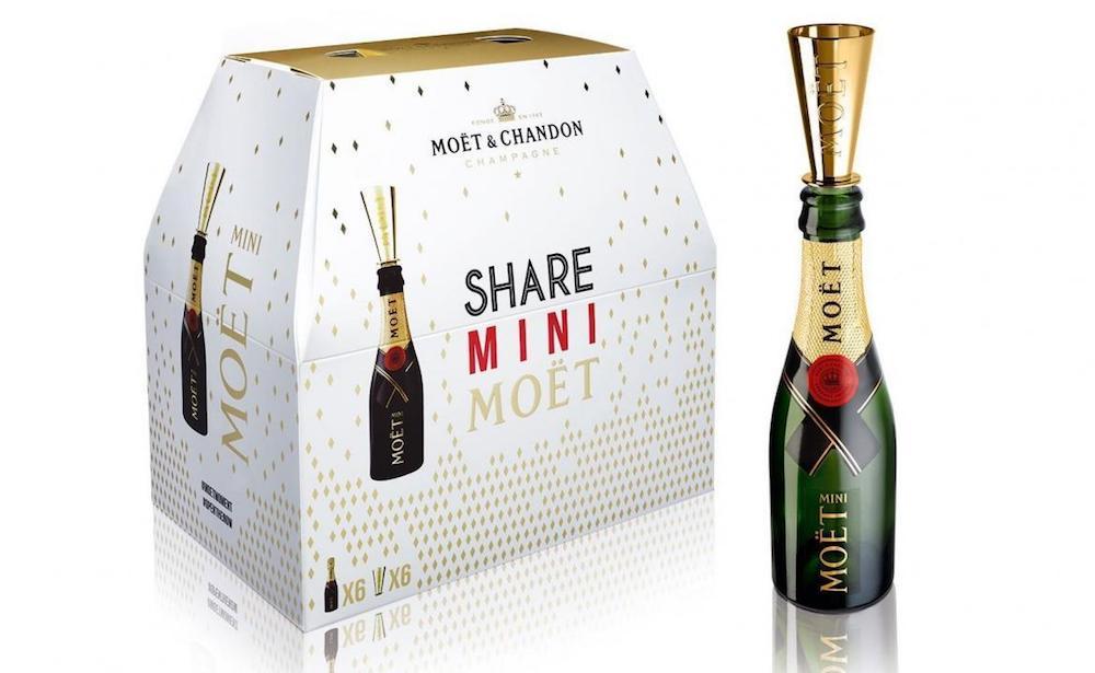 Moët & Chandon Releases The Moët Mini Share Six Pack Champagne Bottles