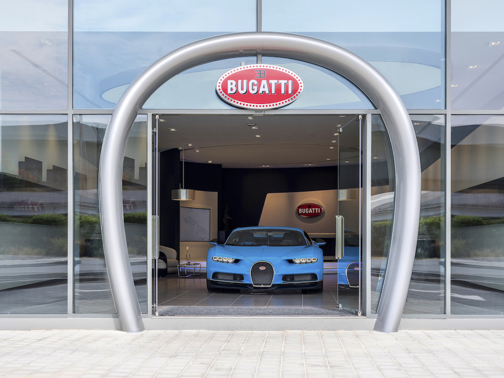 The World's Largest Bugatti Showroom Opens in Dubai