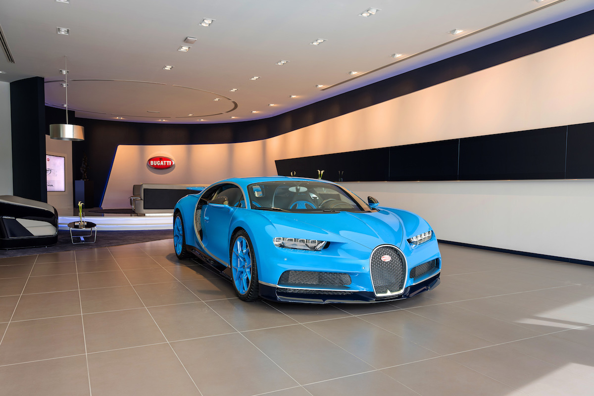 The World's Largest Bugatti Showroom Opens in Dubai