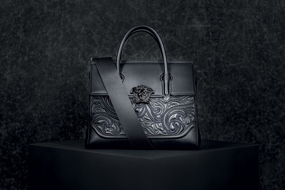 Versace Baroque Embroidered Palazzo Empire Handbag Joins the Palazzo Family