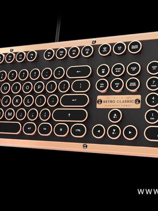 Azio Has Created Industry First Luxury Vintage Keyboard