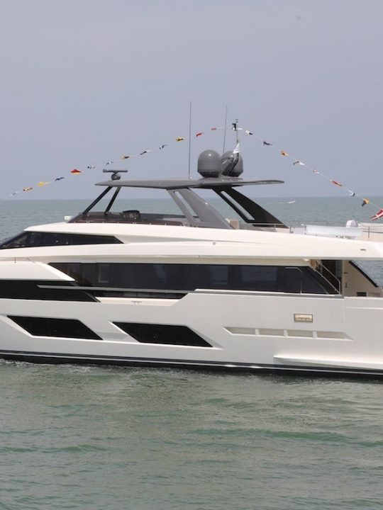 The First Ferretti Yachts 920 Is Launched