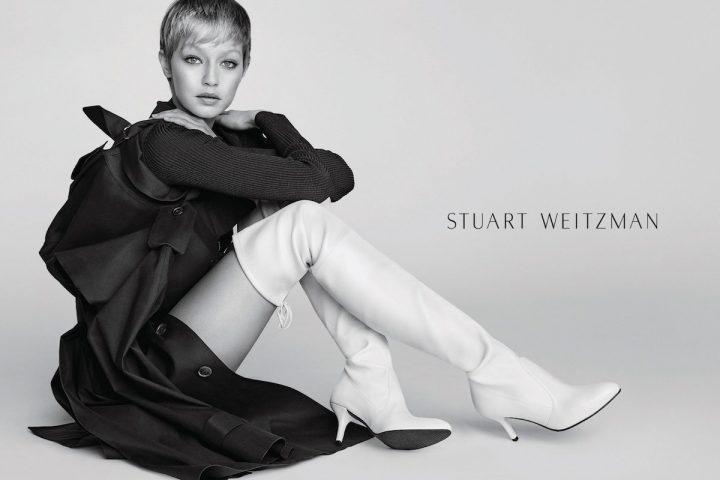 Gigi Hadid Fronts Stuart Weitzman Fall-Winter 2017 Campaign, Shot by Mario Testino