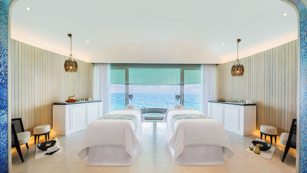 The St. Regis Maldives Vommuli Resort Boasts the Largest Overwater Spa in the Maldives