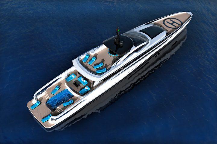 Federico Fiorentino Designs Fast Displacement XL-300 Sport Superyacht Concept