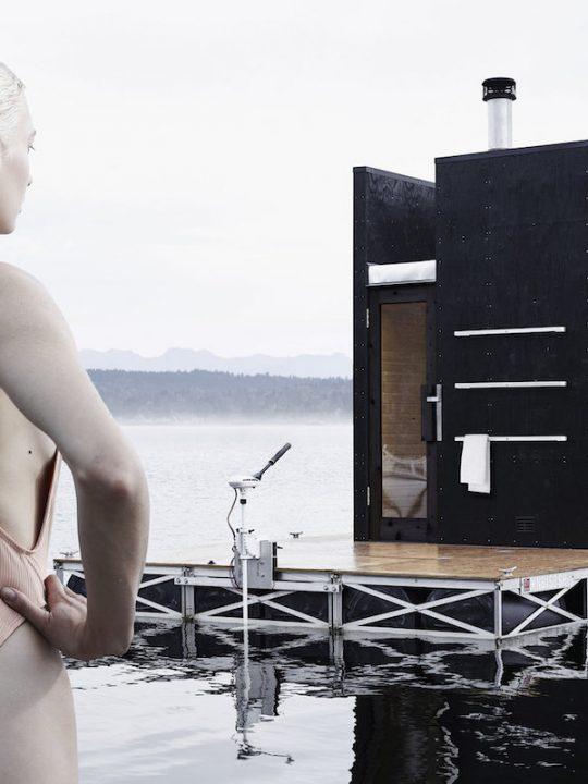 goCStudio's wa-sauna, Floating Sauna, Is for Adventurous People