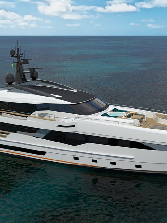 An Extensive Beach Club & Large Sky Lounge Aboard Wider 130 Yacht