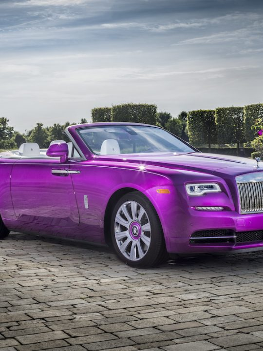 Fit For Princess: A Rolls-Royce Dawn in Fuxia for Collector Michael Fux