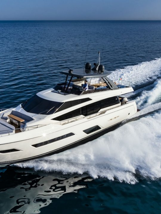 Ferretti Yachts 780 Makes Its Worldwide Debut at the 2017 Cannes Yachting Festival