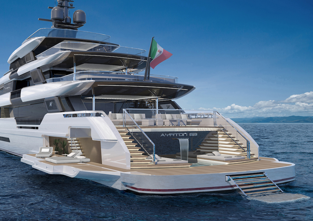 Ayrton 63m Is an Automotive-Inspired Design Marvel from ISA Yachts