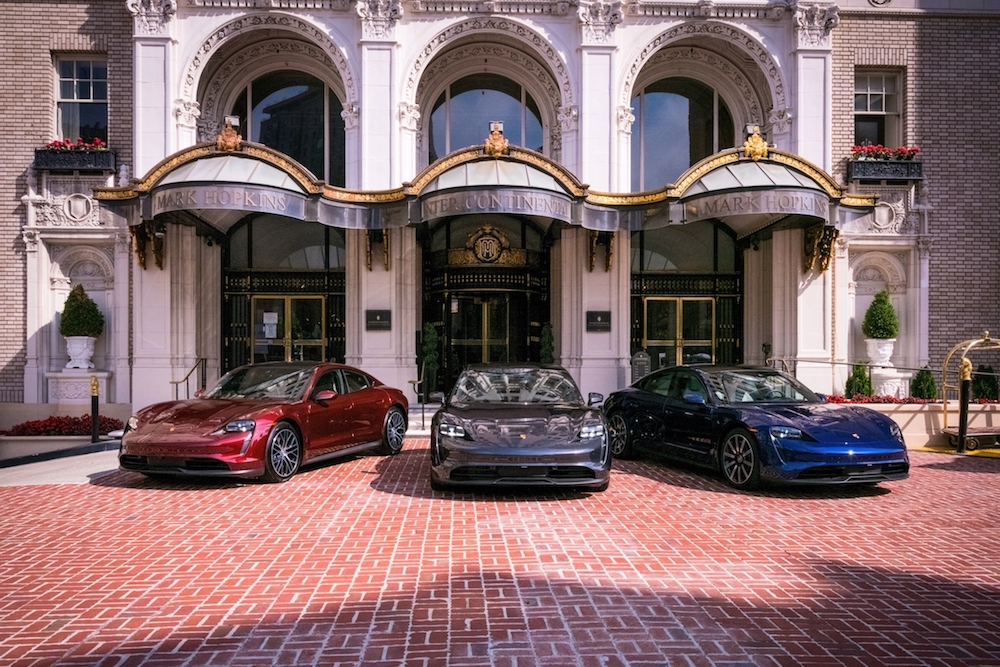 Porsche Electric Vehicle Chargers at InterContinental Mark Hopkins San Francisco